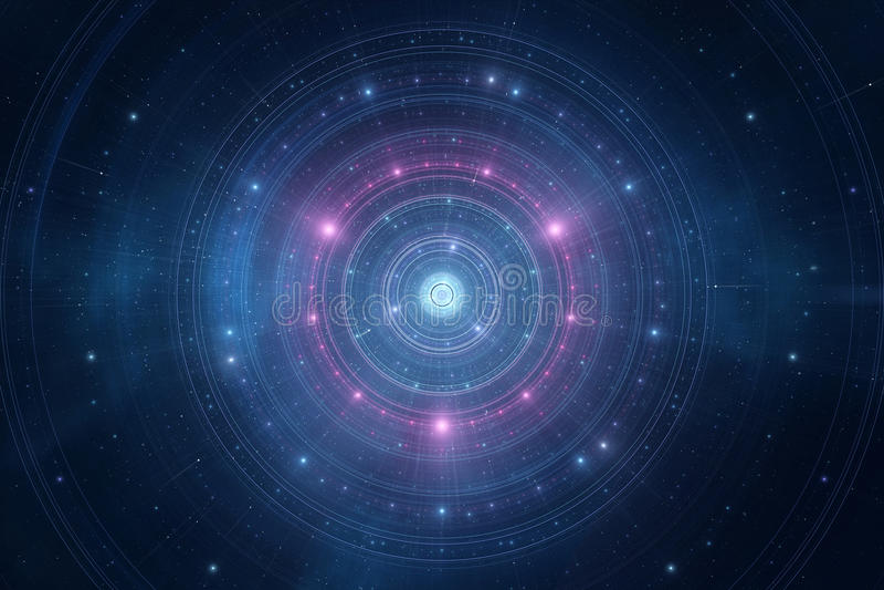 Абстрактный космос играет главные роли футуристическая новая предпосылка времени бесплатная иллюстрация