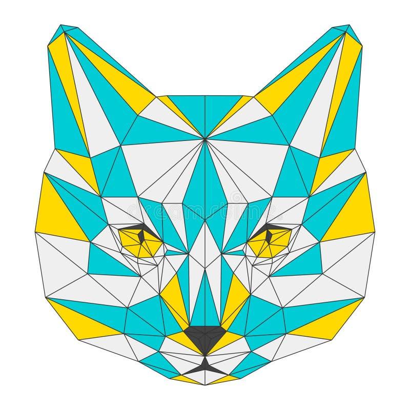 Абстрактный кот на белой предпосылке иллюстрация вектора