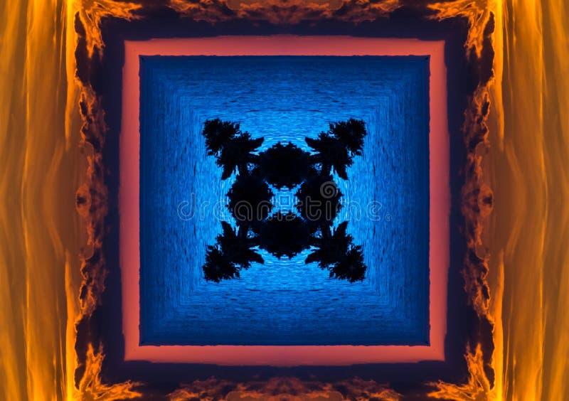 Абстрактный красный и желтый калейдоскоп стоковые изображения rf