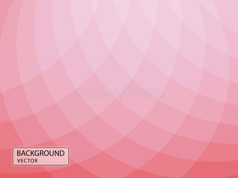 Абстрактный красный фон с мягко-красными объемными геометрическими фигурами Иллюстрация вектора, баннер, обложка бесплатная иллюстрация