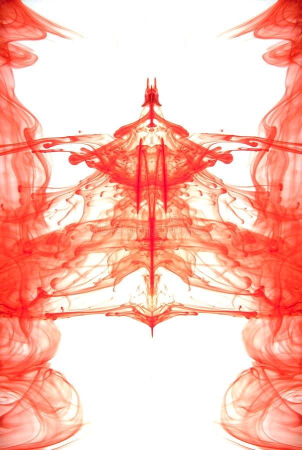 абстрактный красный цвет чернил стоковая фотография rf