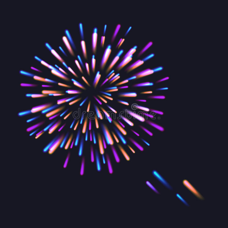 Абстрактный красочный взрыв фейерверков бесплатная иллюстрация