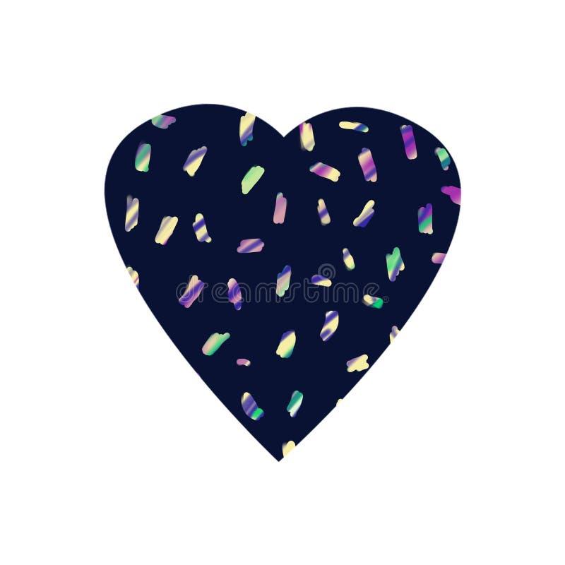 Абстрактный красочный взрыв confetti на черной предпосылке иллюстрация вектора