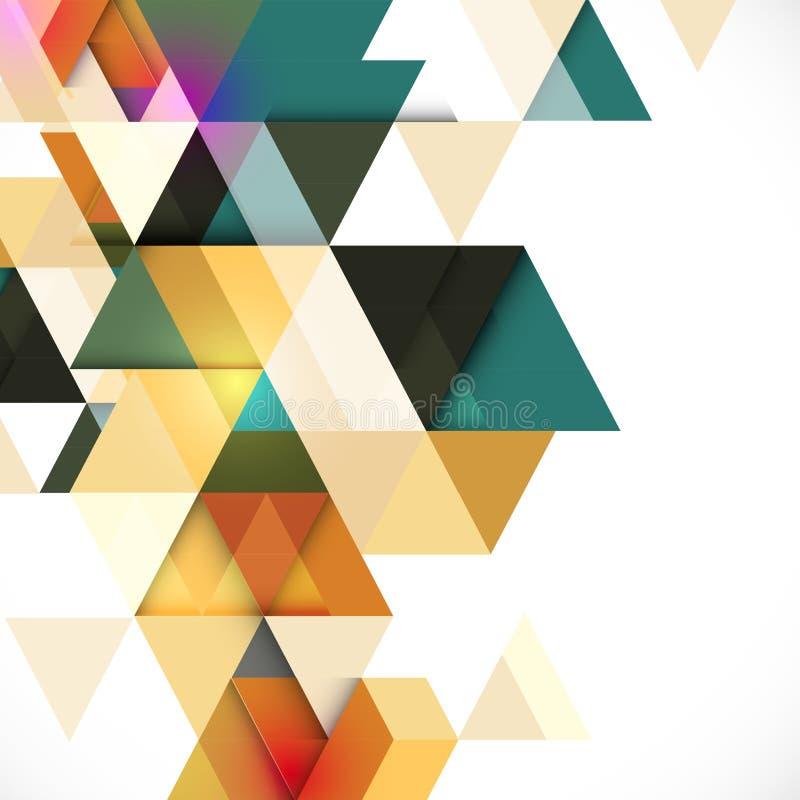 Абстрактный красочный геометрический современный шаблон для представления дела или технологии иллюстрация штока