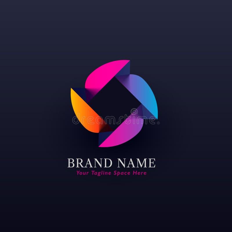 Абстрактный красочный дизайн логотипа концепции иллюстрация вектора