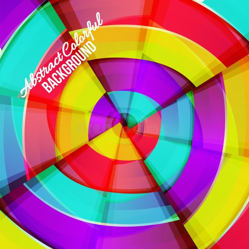 Абстрактный красочный дизайн предпосылки кривой радуги. иллюстрация штока