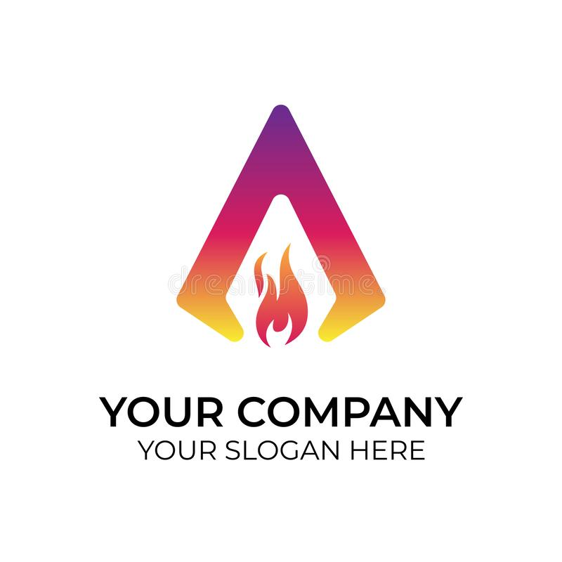 абстрактный красочный логотип иллюстрация вектора
