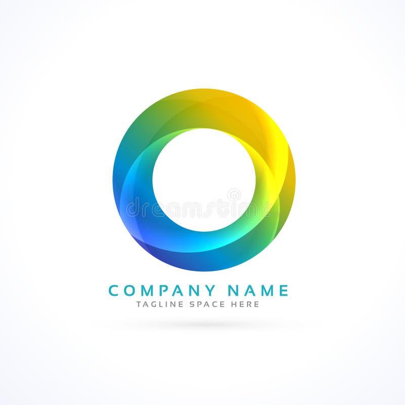 абстрактный красочный логотип круга иллюстрация штока