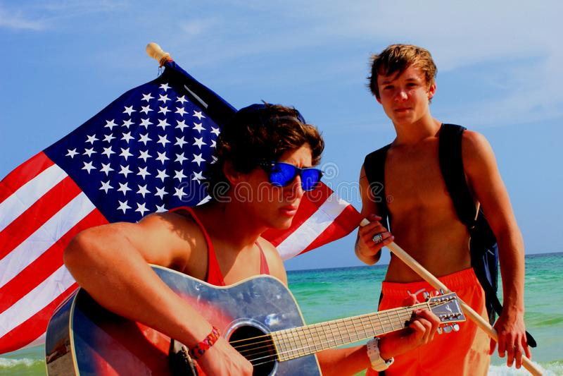 Абстрактный красочный пляж Панама (город) берега моря патриотический тропический стоковое фото