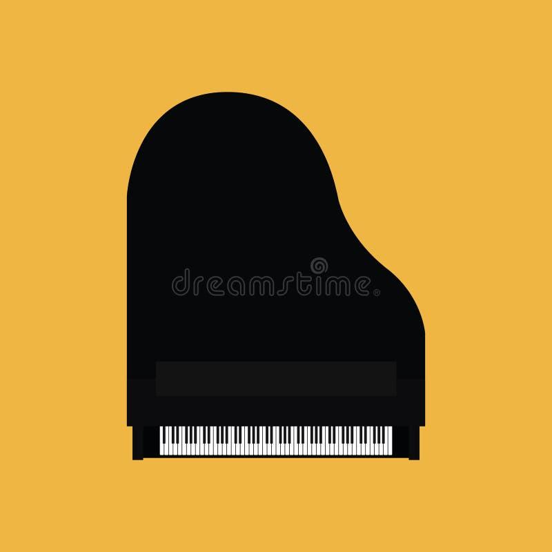 Абстрактный красочный рояль изолированный на предпосылке цвета иллюстрация штока