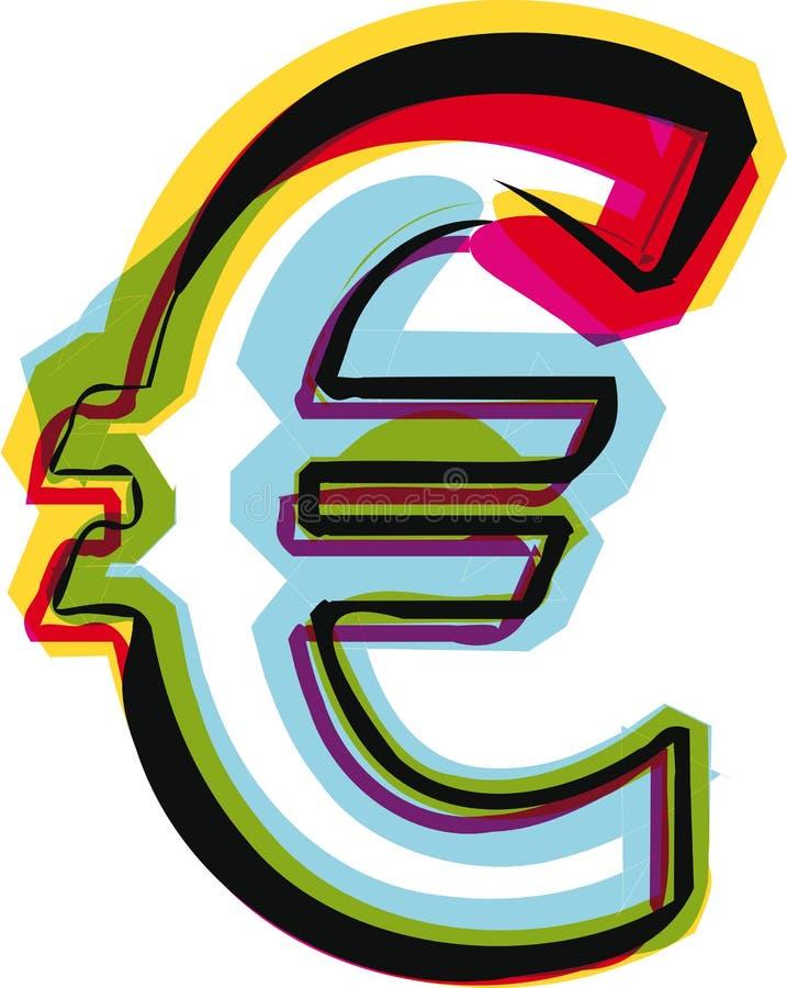 Абстрактный красочный символ иллюстрация вектора