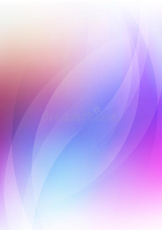 Абстрактный кривый на фоне размытых цветов иллюстрация вектора
