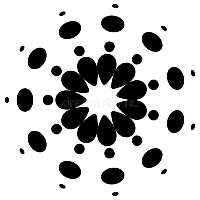 Download Абстрактный круговой, поставленный точки элемент Иллюстрация вектора - иллюстрации насчитывающей dotted, оптически: 81809898