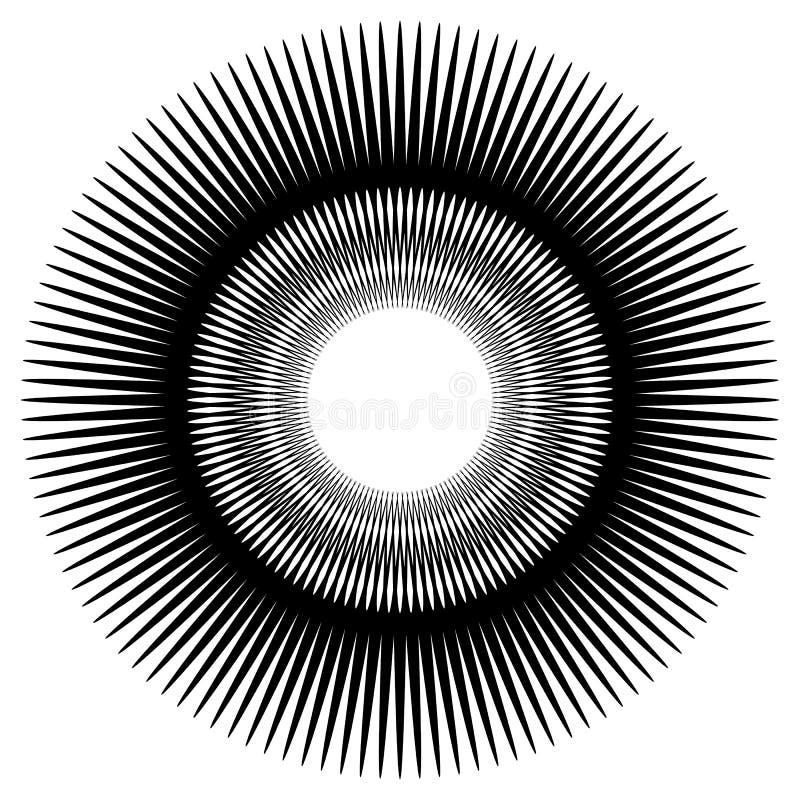 Download Абстрактный круговой элемент, радиальные линии форма геометрический элемент Иллюстрация вектора - иллюстрации насчитывающей кругово, радиус: 81805578