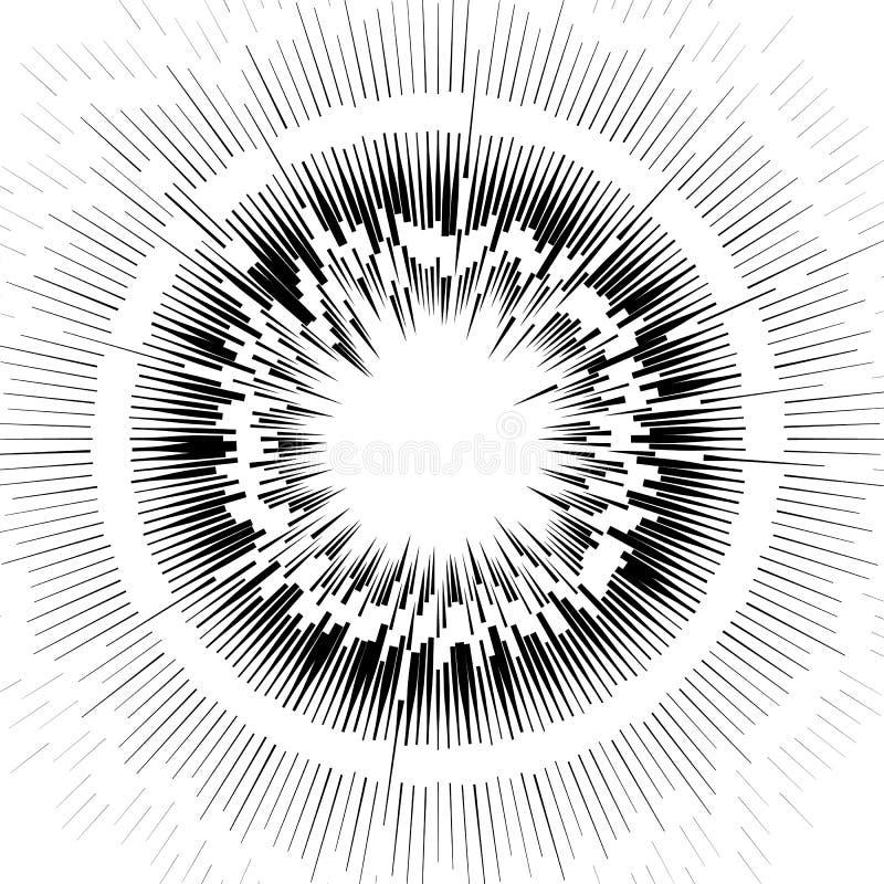 Download Абстрактный круговой элемент, радиальные линии форма геометрический элемент Иллюстрация вектора - иллюстрации насчитывающей круг, излучать: 81811391