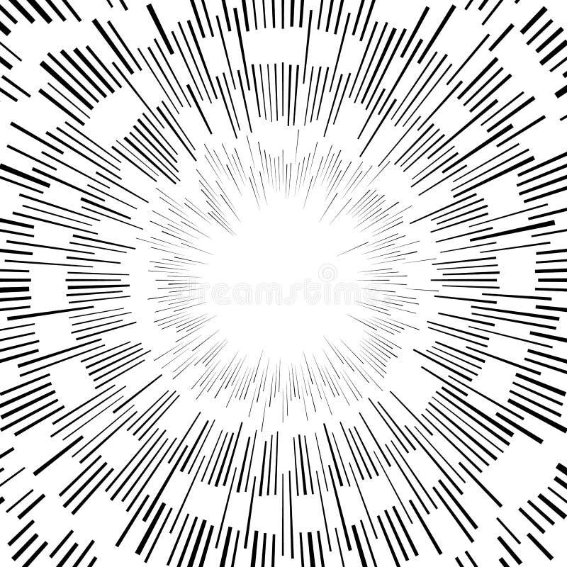 Download Абстрактный круговой элемент, радиальные линии форма геометрический элемент Иллюстрация вектора - иллюстрации насчитывающей наконечников, геометрическо: 81811406