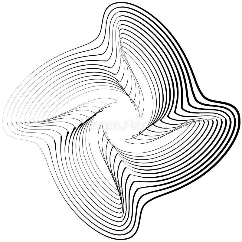 Download Абстрактный круговой элемент Monochrome геометрическая иллюстрация внутри Иллюстрация вектора - иллюстрации насчитывающей разносторонне, наконечников: 81807014