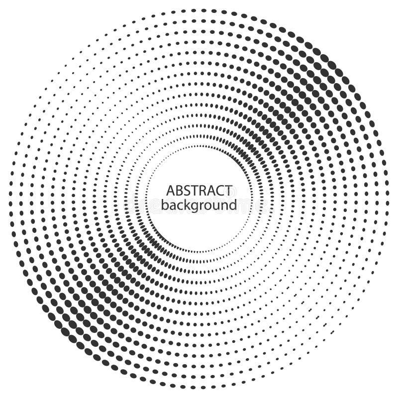 Абстрактный круг полутонового изображения ставит точки текстура иллюстрация вектора
