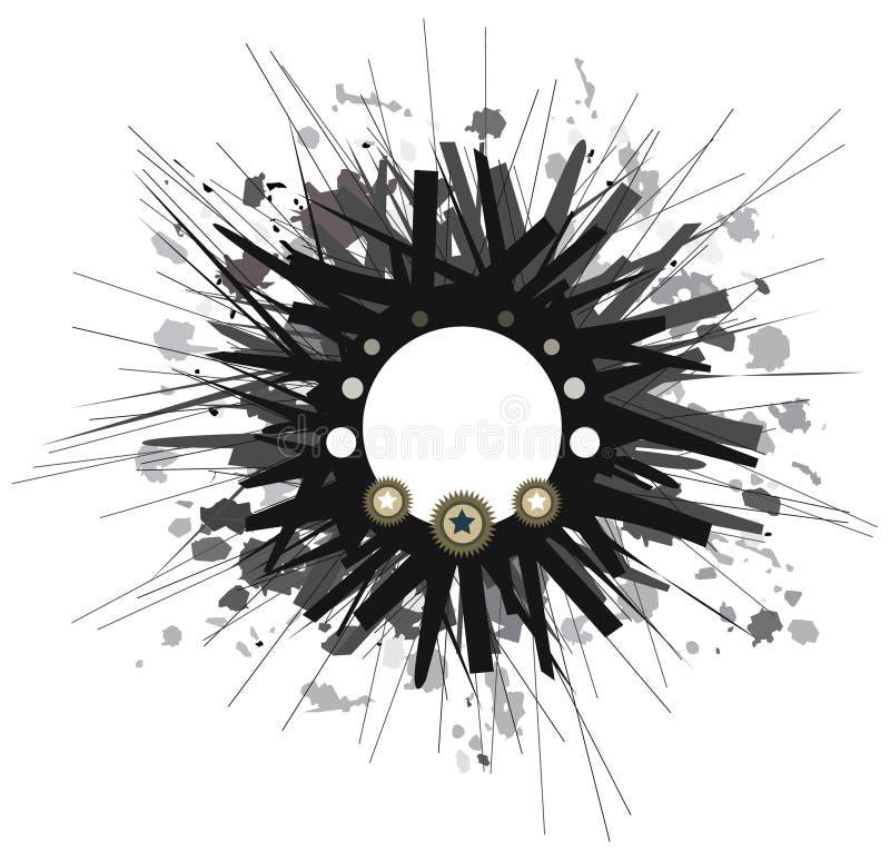 абстрактный круг предпосылки иллюстрация вектора
