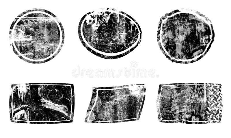 Абстрактный круг элемента Текстура пятна мазка щетки бесплатная иллюстрация