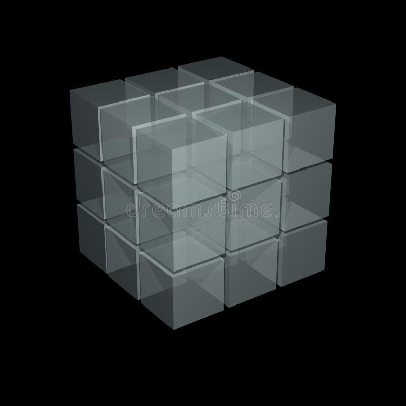 абстрактный кубик иллюстрация вектора