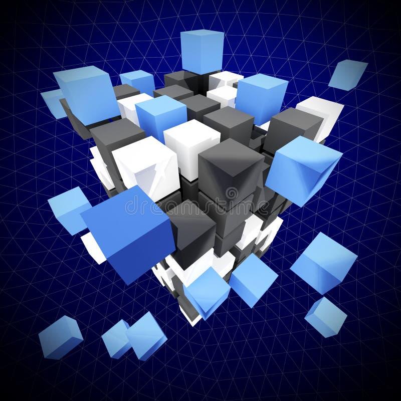 абстрактный кубик бесплатная иллюстрация