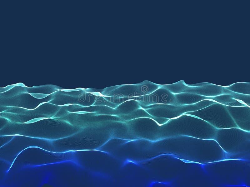 абстрактный ландшафт Поверхность волны частиц background card congratulation invitation стоковые фотографии rf