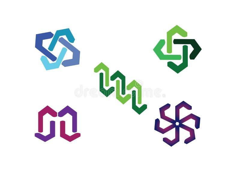 Абстрактный линейный шаблон логотипа, линии влияния искусства для илл бесплатная иллюстрация