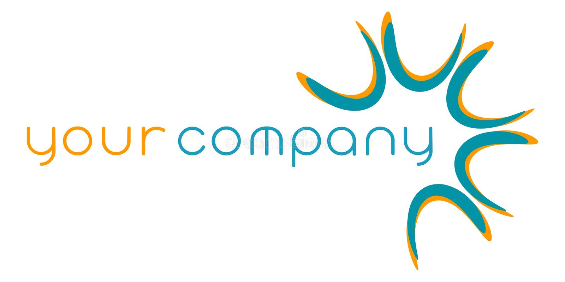 абстрактный логос компании иллюстрация вектора