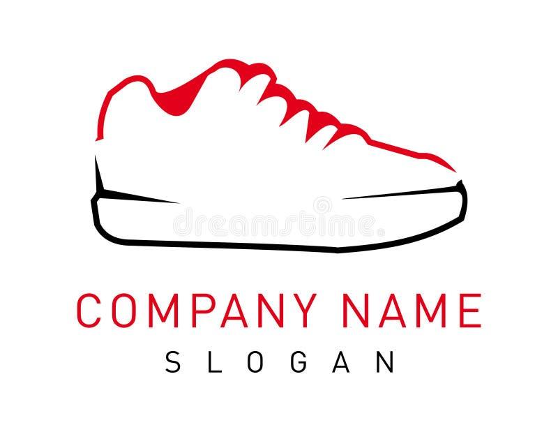 Абстрактный логотип ботинка на белой предпосылке бесплатная иллюстрация