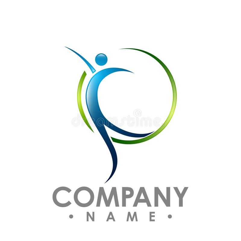 Абстрактный логотип вектора собрания значков и символов людей конструирует иллюстрация штока