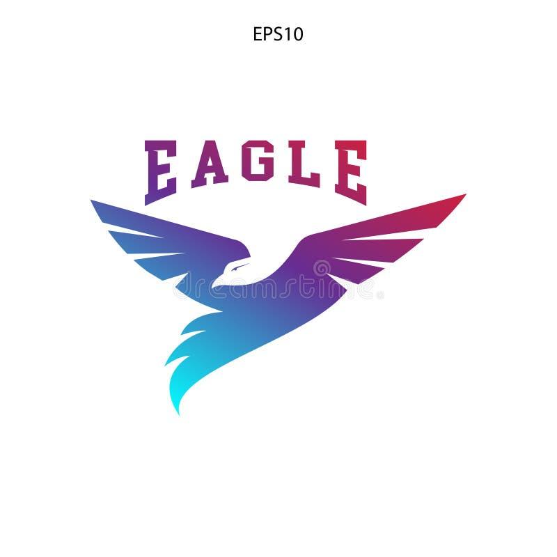 абстрактный логотип задвижки мухы птицы орла иллюстрация штока