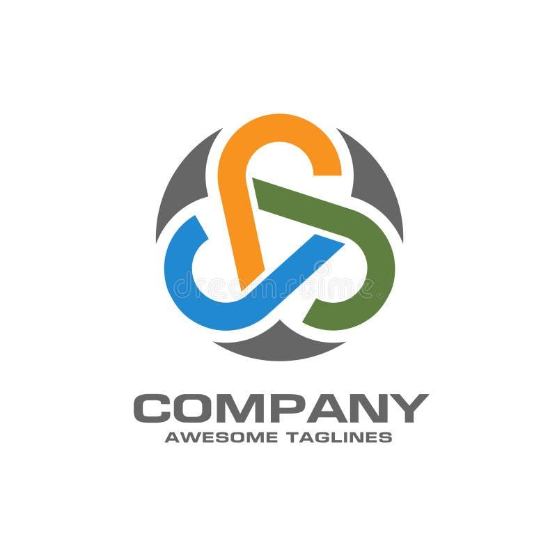 Абстрактный логотип технологии сети круга иллюстрация штока