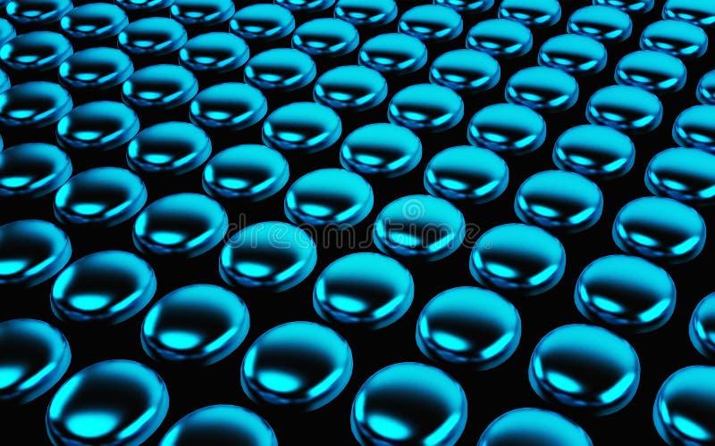 Абстрактный массив shinny голубые полигоны 3d представляют бесплатная иллюстрация