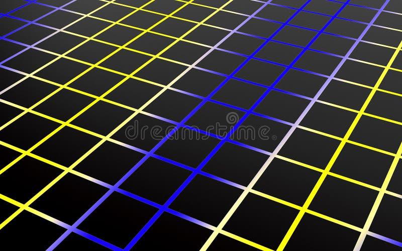 Абстрактный массив shinny полигоны черноты и цвета 3d представляют иллюстрация вектора