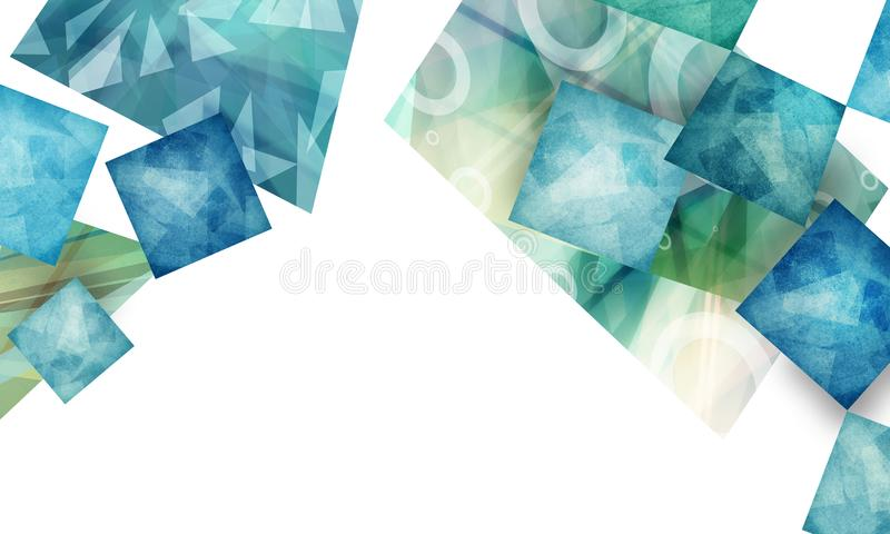 Абстрактный материальный дизайн с слоями текстурированных полигонов на белой предпосылке иллюстрация вектора