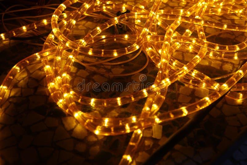 Абстрактный медленный крупный план светов шторки стоковое фото rf