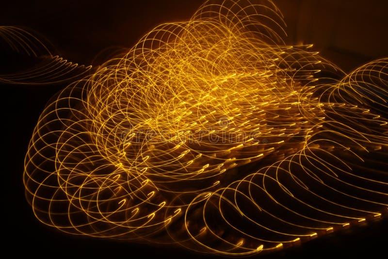 Абстрактный медленный крупный план светов шторки стоковая фотография