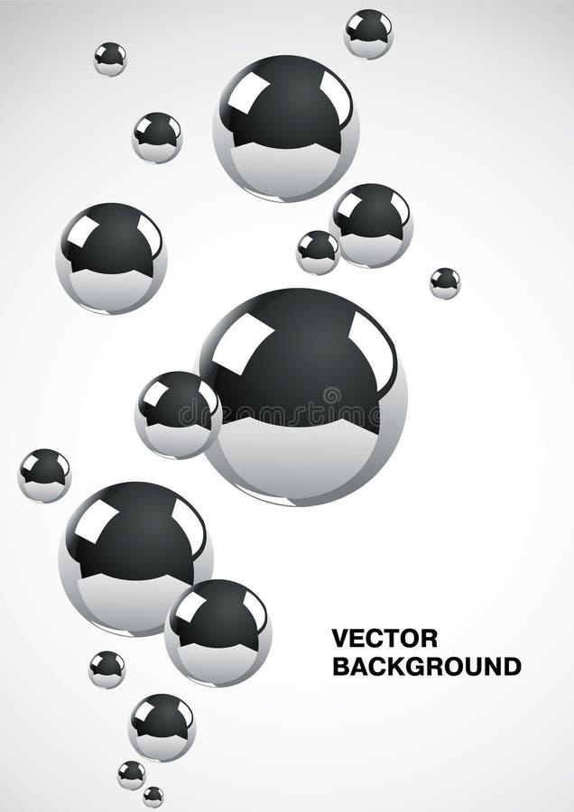 абстрактный металл шариков предпосылки бесплатная иллюстрация