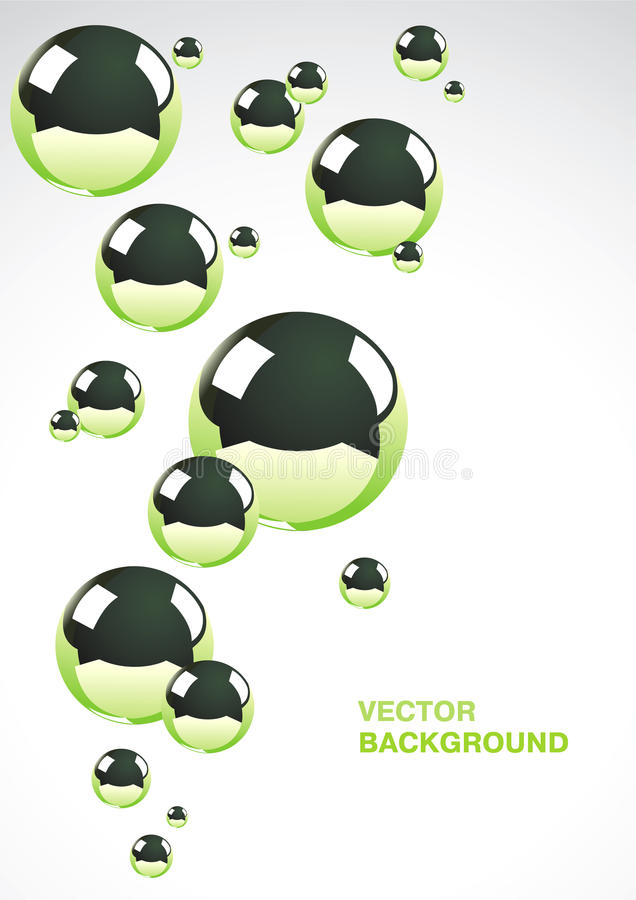 абстрактный металл шариков предпосылки иллюстрация штока