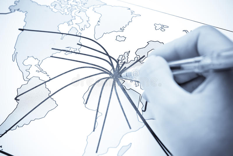 абстрактный мир карты материка стоковое изображение rf