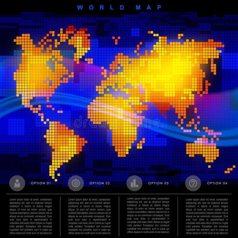 абстрактный мир карты иллюстрация вектора