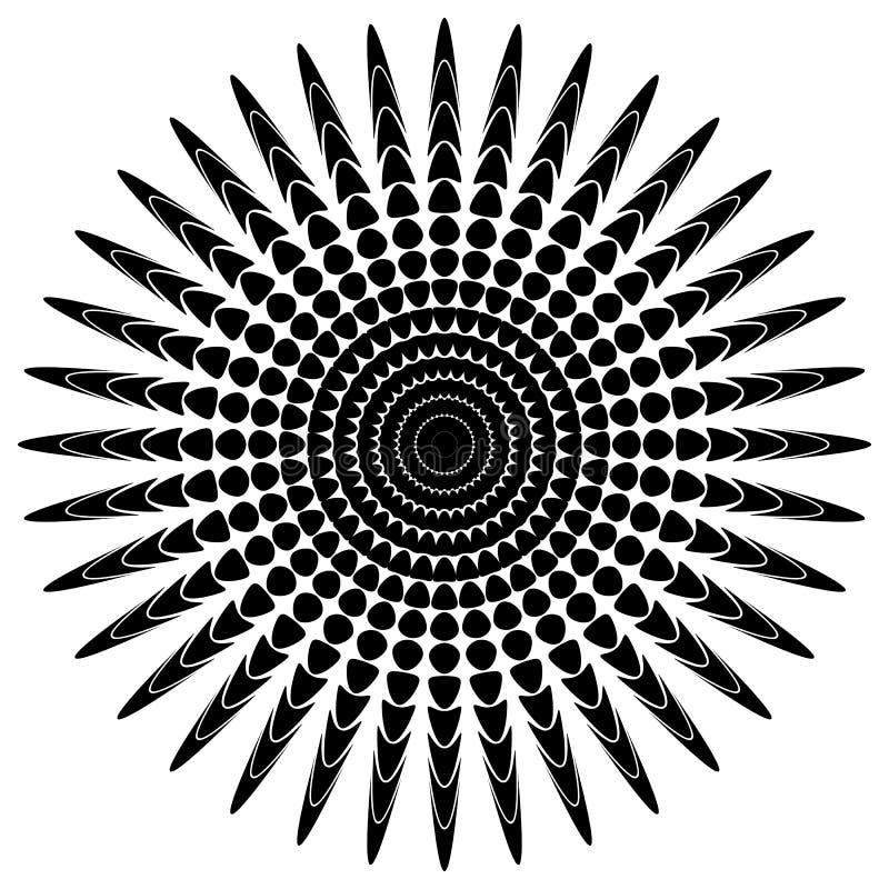 Download Абстрактный мотив излучать, концентрический Monochrome элемент на белизне Иллюстрация вектора - иллюстрации насчитывающей иллюстрация, бесцветно: 81810195