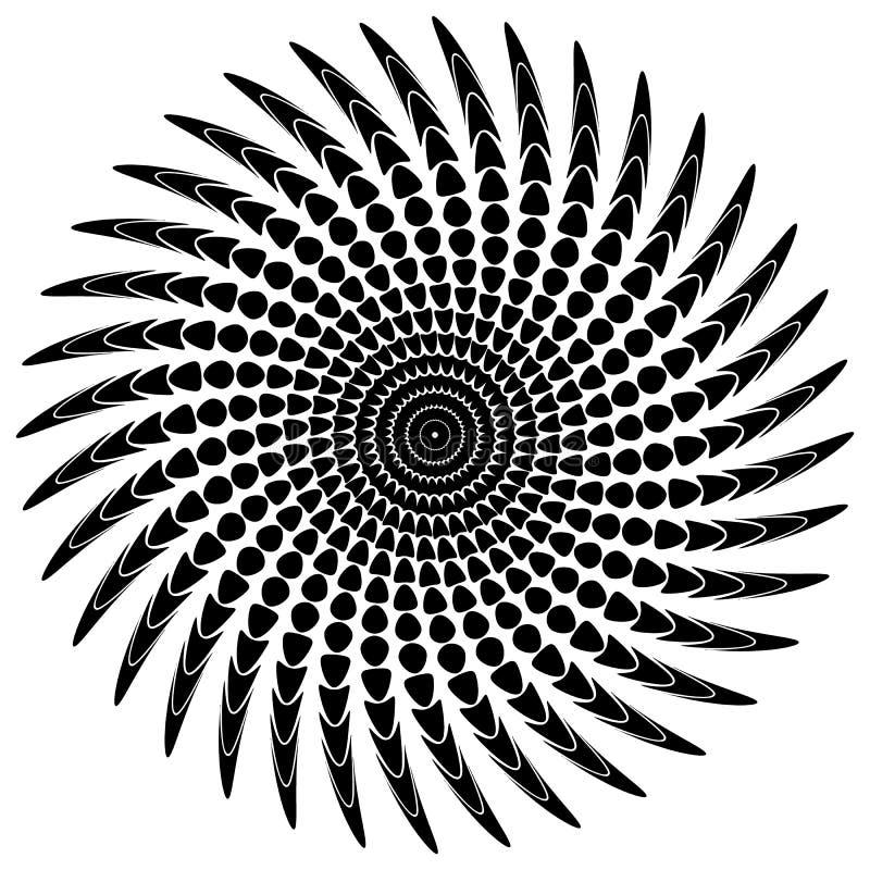 Download Абстрактный мотив излучать, концентрический Monochrome элемент на белизне Иллюстрация вектора - иллюстрации насчитывающей элемент, monochrome: 81810289
