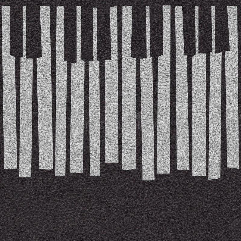 Абстрактный музыкальный рояль пользуется ключом - безшовная предпосылка - кожаный прибой бесплатная иллюстрация