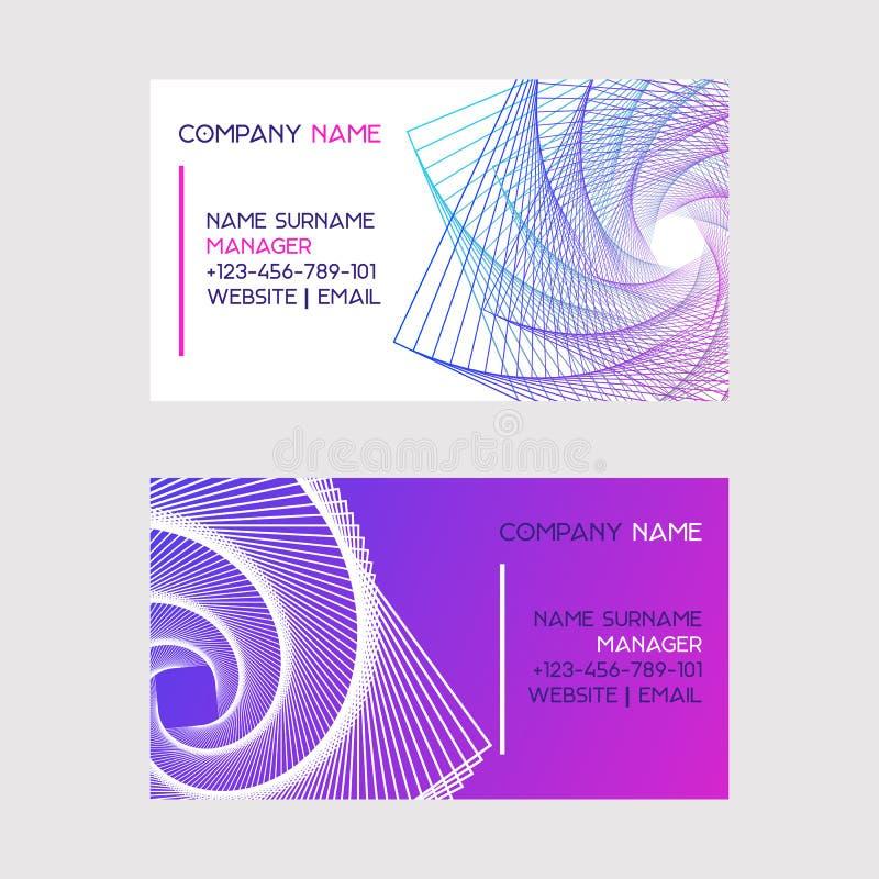 Абстрактный набор дизайна иллюстрации вектора визитных карточек Дизайн Minimalistic, творческая концепция, современная предпосылк иллюстрация вектора