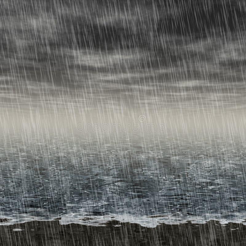 Абстрактный ненастный произведенный ландшафт нанимает предпосылку иллюстрация вектора