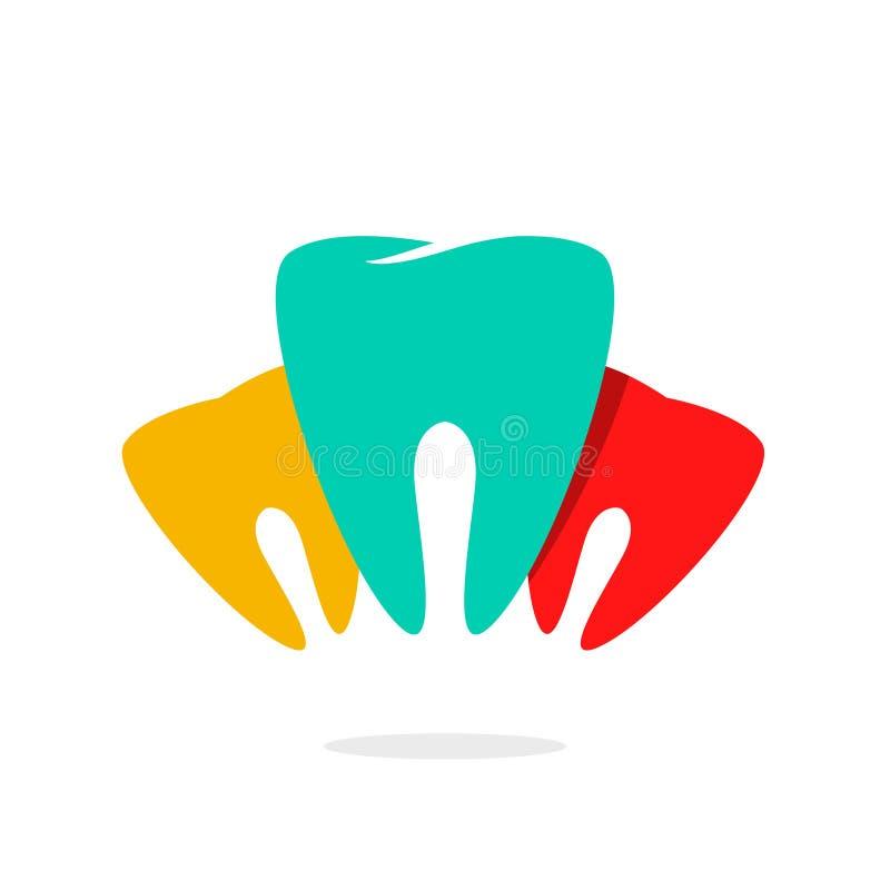 Абстрактный логотип вектора зубоврачебной заботы зубов бесплатная иллюстрация