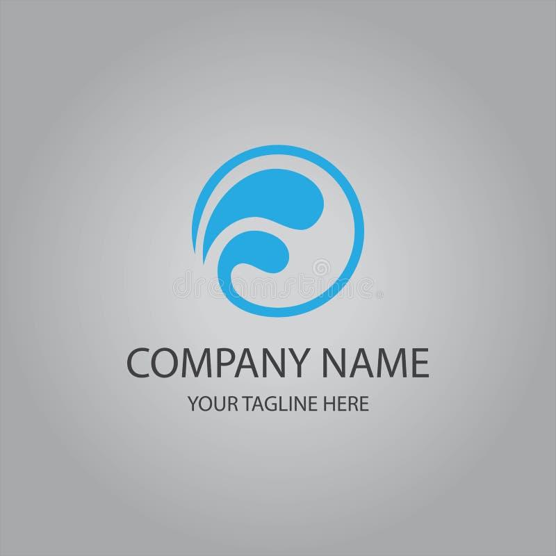 Абстрактный логотип волны воды бесплатная иллюстрация