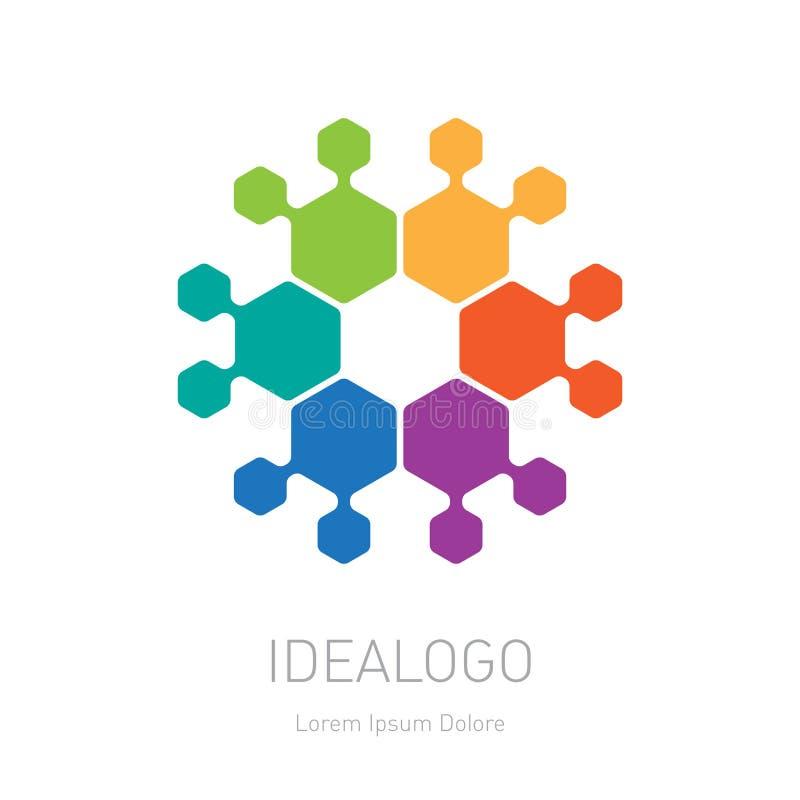 Абстрактный логотип выглядеть как цветок Логотип вектора, элемент дизайна иллюстрация вектора